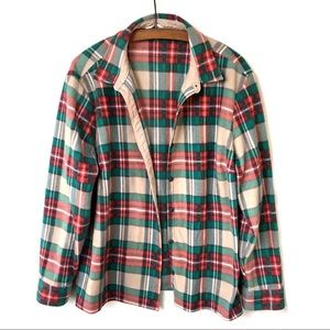 Riders by Lee Fleece Plaid Button Up Shirt